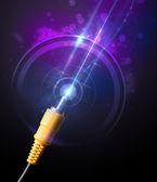 Cavo elettrico incandescente — Foto Stock