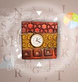 Relojes con concepto de mundo tiempo y finanzas empresariales — Foto de Stock