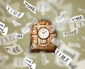 Concepto de relojería con tiempo volando — Foto de Stock