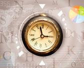 Clocks with world time and finance business concept — Zdjęcie stockowe