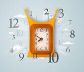 Horloge moderne avec des chiffres sur le côté — Photo