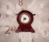 Vintage clock with numbers on the side — Стоковое фото