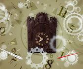 Vintage horloge avec chiffres sur le côté — Photo