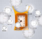 Clocks and time zones over the world concept — Stock Photo