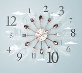 Modern clock with numbers on the side — Stock Photo