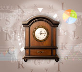 Clocks with world time and finance business concept — Stock Photo