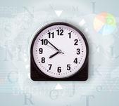 Klokken met wereld tijd en financiën bedrijfsconcept — Stockfoto