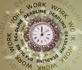 часы работы и сроки раунд письменной — Стоковое фото