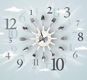 современные часы с числами на стороне — Стоковое фото