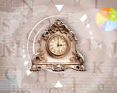 Clocks with world time and finance business concept — Foto Stock