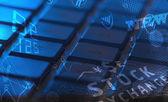 键盘与发光的业务图标 — 图库照片
