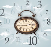 Vintage saat yan numaraları ile — Stok fotoğraf
