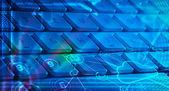 Klavye ile parlayan bulut teknoloji simgeleri — Stok fotoğraf