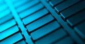макро клавиатуры с копией пространства — Стоковое фото