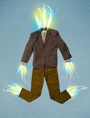 Raggio di energia nel concetto di vestiti casual — Foto Stock