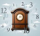 側の番号を持つヴィンテージ時計 — ストック写真