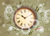 Vintage reloj con números en el lado — Foto de Stock