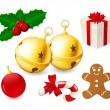 Royalty-Free Stock Vector Image: Jingle Bells and Christmas decoration