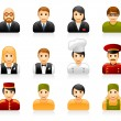 Hotel and restaurant staff icons — Vector de stock #14192534