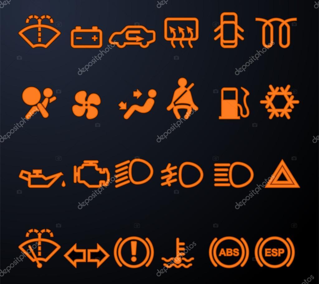 depositphotos_19575929 illuminated car dashboard icons dash warning lights on car on saturn aura wiring diagram