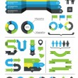 Infographics design elements and icons — Stockvectorbeeld