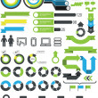 Infographics - statistic elements and icons — Stock Vector