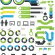 Stock Vector: Infographics - statistic elements and icons