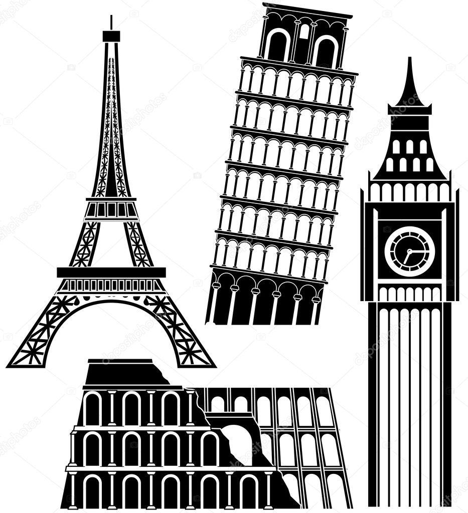 欧洲城市矢量图