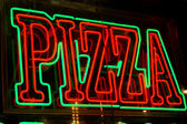 Neon pizza sign — Stock Photo