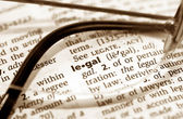 Legal view — Stock Photo