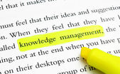 Knowledge management — 图库照片