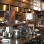 Restaurant kitchen — Stock Photo