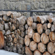 Stock Photo: Stacked firewood