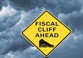 Finanspolitiska klippan — Stockfoto