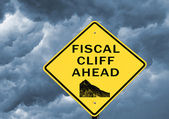 Fiscal cliff — Stock Photo
