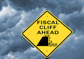 Fiscal cliff warning — Stock Photo