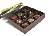 Doos chocolade — Stockfoto
