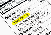 反式脂肪 — 图库照片