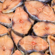 Stock Photo: Fresh fish steak filet for sale