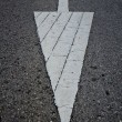 Arrow symbol traffic one the road — Stock Photo
