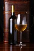 Bottle of white wine — Stock Photo