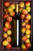 White wine and plums — Stock Photo