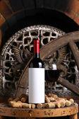 Vintage red wine — Stock Photo
