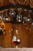 Glass of brandy — Stock Photo