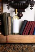 White wine and books — Stock Photo