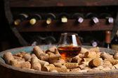 Brandy in a wine cellar — Foto de Stock