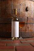 White wine in cellar — Stock Photo