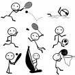 Stick figure sports — Stock Vector