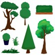 Greens and trees — Imagen vectorial