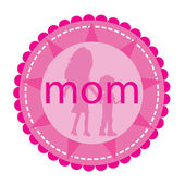 Mom badge — Stock Vector